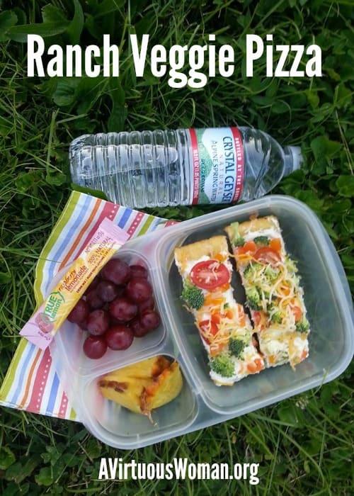 Ranch Veggie Pizza @ AVirtuousWoman.org