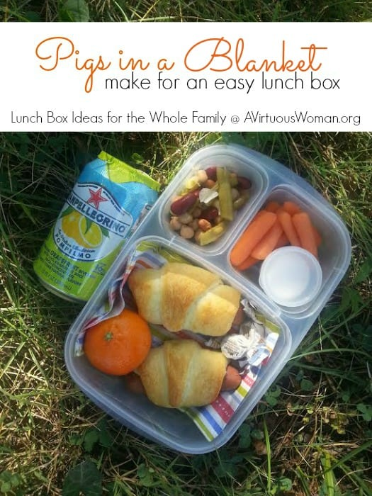 Pigs in a Blanket makes an Easy Lunch Box @ AVirtuousWoman.org