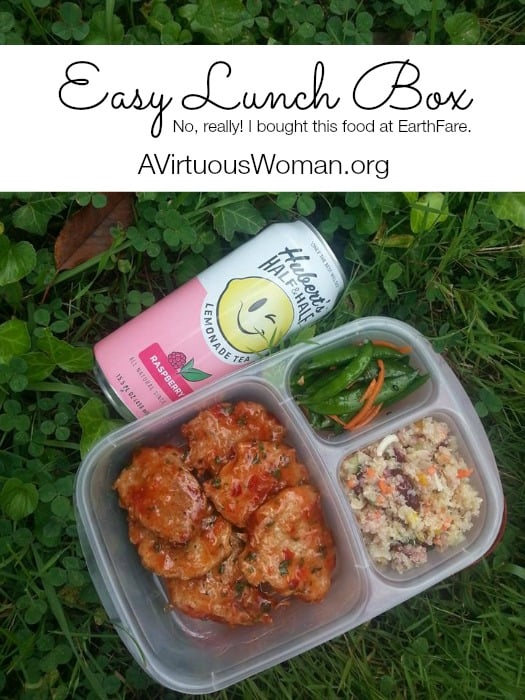 Easy Lunch Box with Thai Chili Nuggets from #EarthFare @ AVirtuousWoman.org #easylunchboxes
