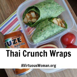 Thai Crunch Wraps {Easy Lunch Box}