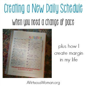 Creating a New Schedule