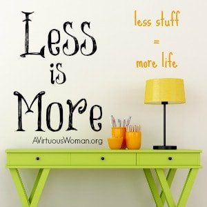 Less Really is More