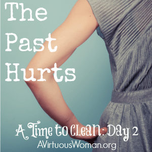 The Past Hurts {A Time to Clean: 30 Day Challenge} @ AVirtuousWoman.org #atimetoclean