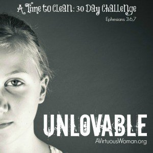 Shame is so powerful that it can drive you to believe that not only are you unworthy of being loved but that you have no control over your own life. That no matter what you do or how hard you try nothing will ever change. @ AVirtuousWoman.org #ATimeToClean
