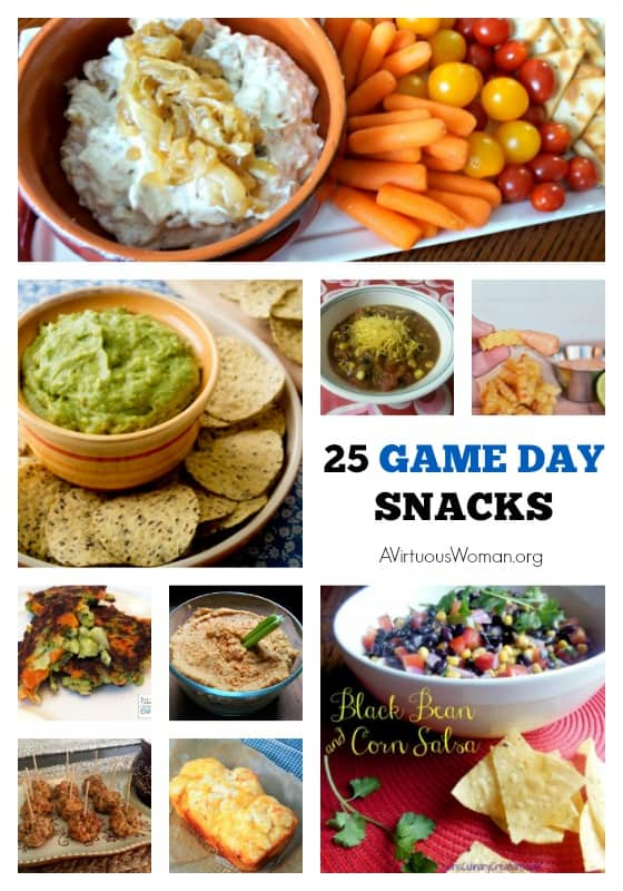25 Game Day Snacks - YUM! @ AVirtuousWoman.org