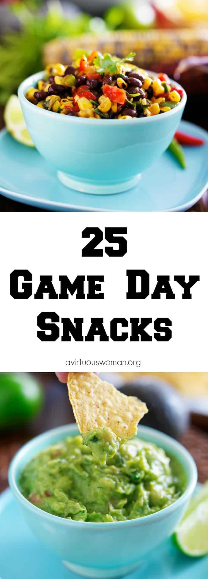 25 Game Day Snacks - YUM! @ AVirtuousWoman.org