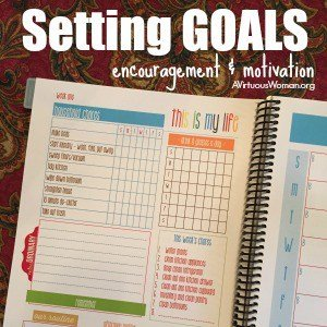 Setting Goals {encouragement & motivation} @ AVirtuousWoman.org