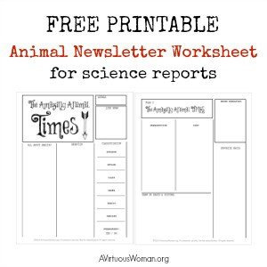 Animal Newsletter Printable