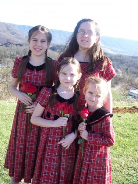 My girls, Sarah, Emily, Hannah, and Laura in March 2009.