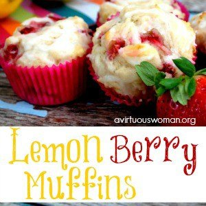Lemon Berry Muffins @ AVirtuousWoman.org