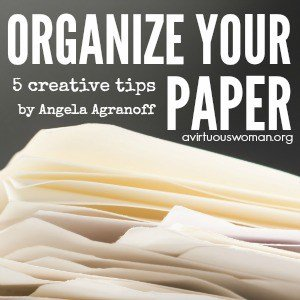 5 Tips to Organize Your Paper Clutter