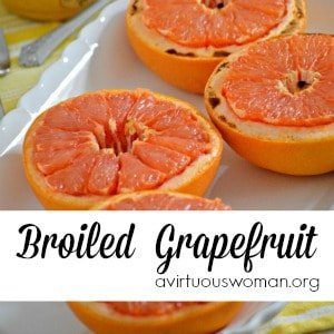 Broiled Grapefruit with Honey
