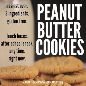 The Easiest Peanut Butter Cookies. Ever.