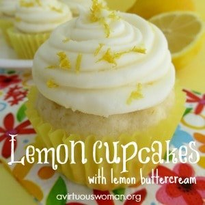 Lemon Cupcakes with Lemon Butter Cream