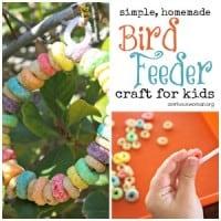 Homemade Bird Feeder Craft for Preschoolers @ AVirtuousWoman.org