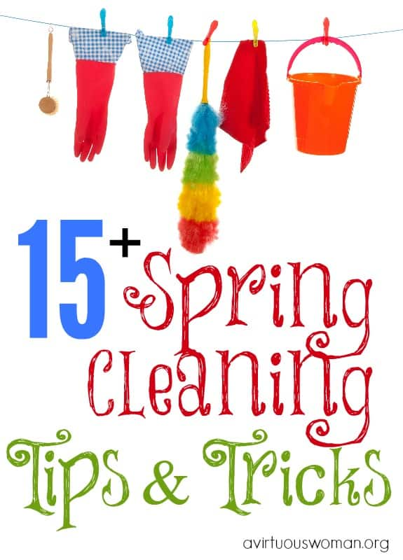 Spring Cleaning Tips and Tricks @ AVirtuousWoman.org