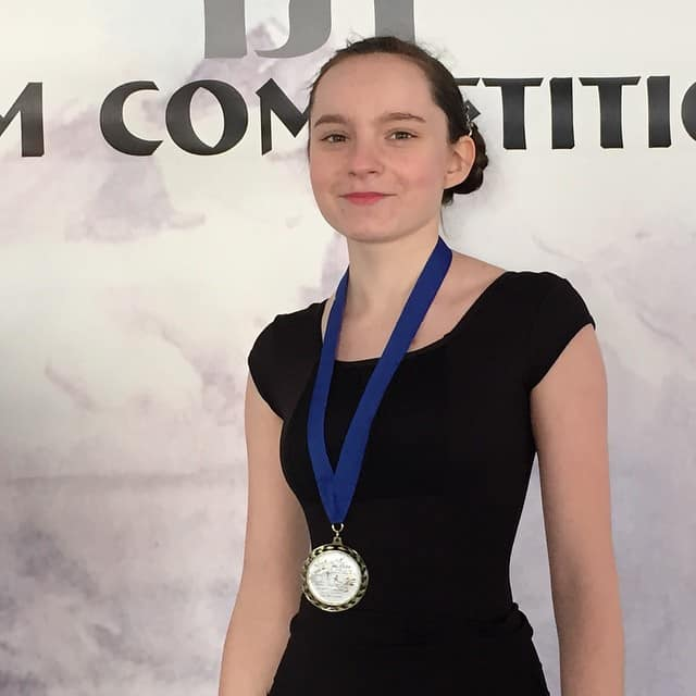 Hannah took first place in the Solo Compulsory event.