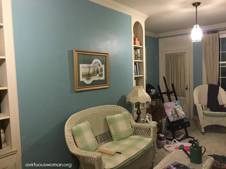 Painting the Sun Room @ AVirtuousWoman.org