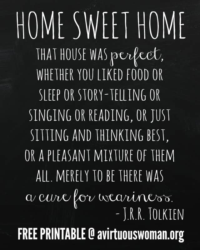 {Home Sweet Home} Get the FREE Printable @ AVirtuousWoman.org