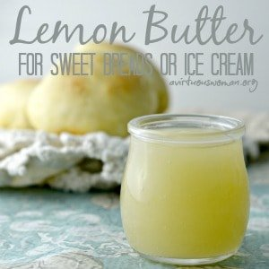 Lemon Butter Sauce