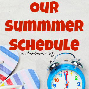 Our Summer Schedule