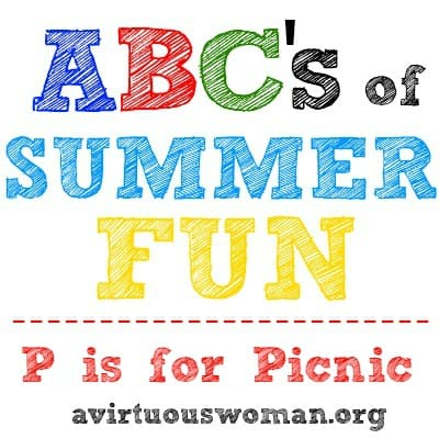 P is for Picnic - Free Printable Checklist @ AVirtuousWoman.org