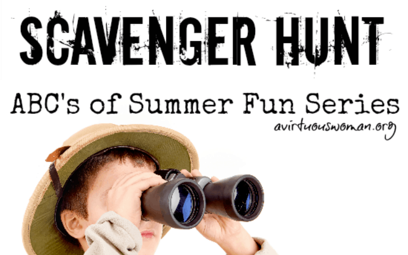 S is for Scavenger Hunt