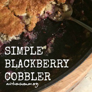Simple Blackberry Cobbler