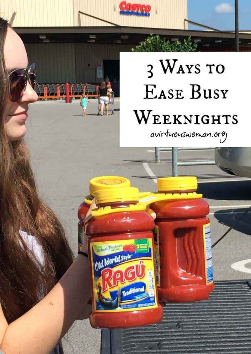 3 Ways to Ease Busy Weeknights @ AVirtuousWoman.org