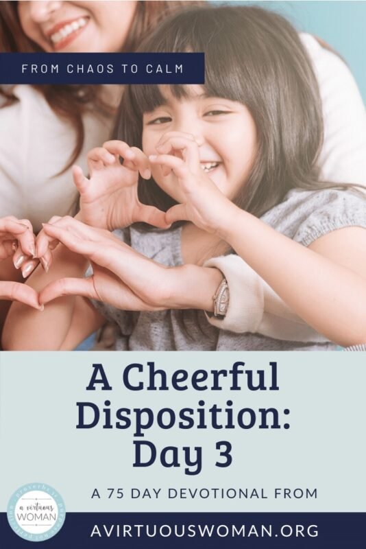 A Cheerful Disposition @ AVirtuousWoman.org