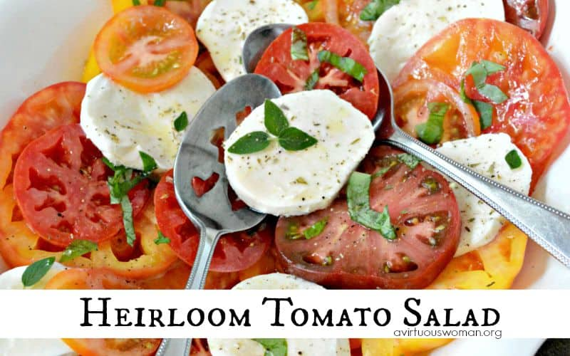 Heirloom Tomato Salad with Lime Vinaigrette @ AVirtuousWoman.org