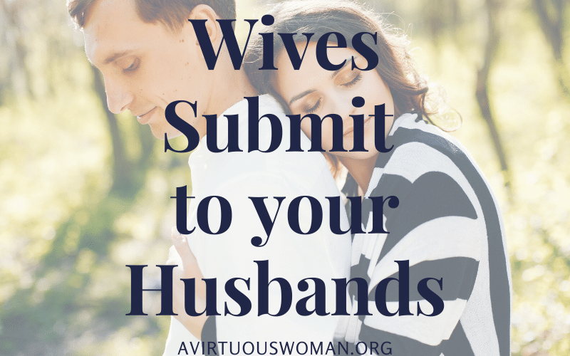 Wives submit to your husbands @ AVirtuousWoman.org