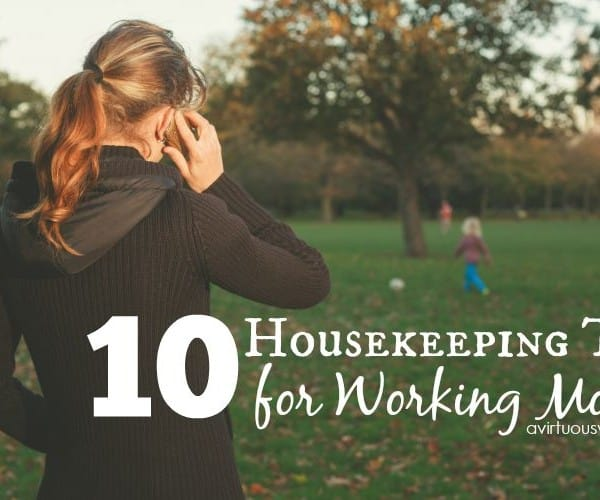 Housekeeping Tips for the Working Mom