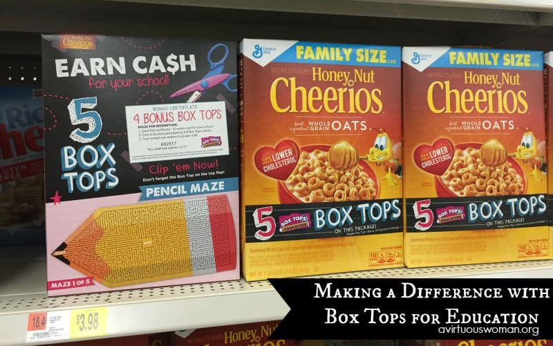 Box Tops for Education @ AVirtuousWoman.org