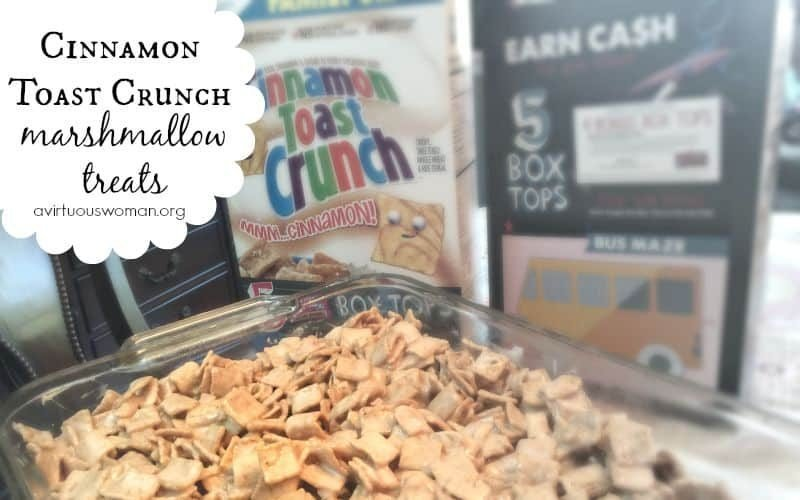 Cinnamon Toast Crunch Marshmallow Treats + a Bake Sale Printable