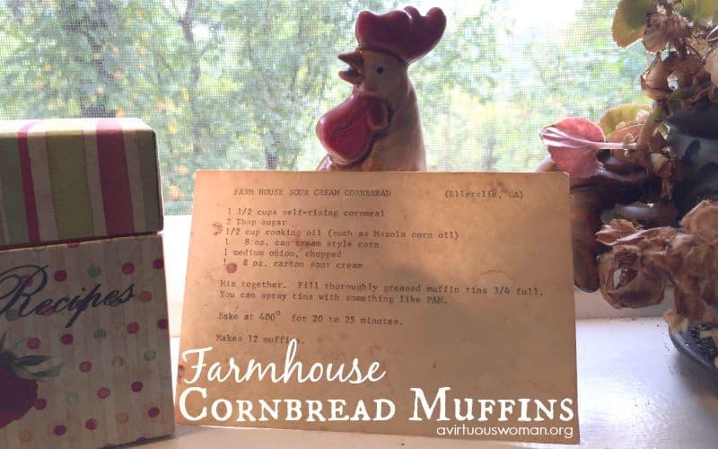 Farmhouse Cornbread Muffins @ AVirtuousWoman.org