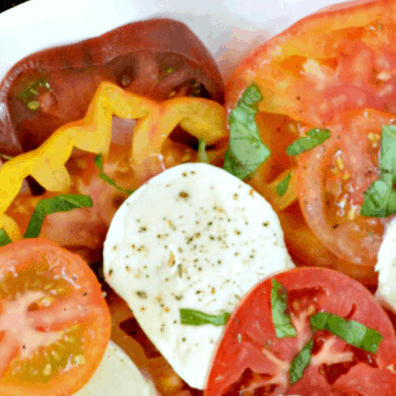 Heirloom Tomato Salad with Lime Vinaigrette