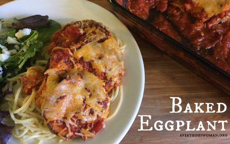 Baked Eggplant Parmesan #BertolliTuscanTour