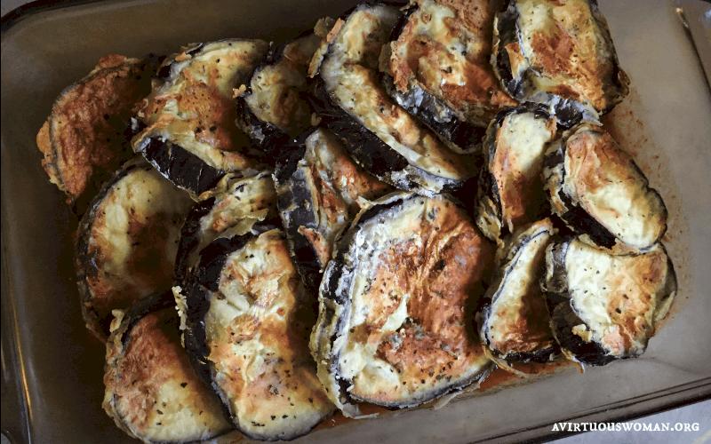 Baked Eggplant Parmesan @ AVirtuousWoman.org