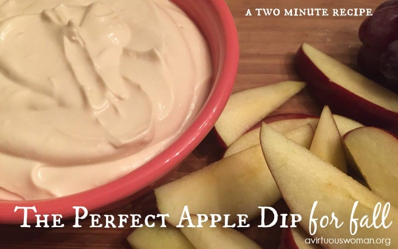 The Perfect Apple Dip for Fall