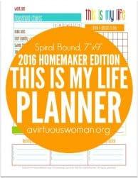 2016 Homemaker Edition - Spiral Bound @ AVirtuousWoman.org