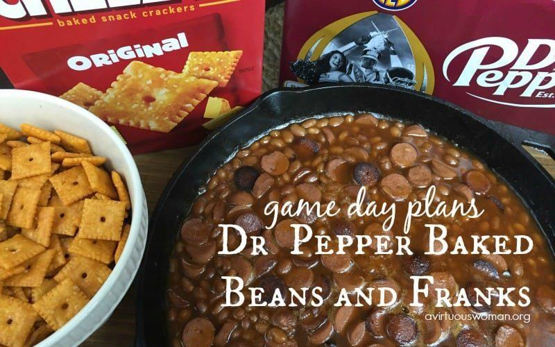 Dr Pepper Baked Beans and Franks @ AVirtuousWoman.org