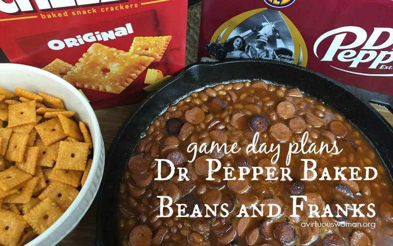 Dr Pepper Baked Beans and Franks @ AVirtuousWoman.org