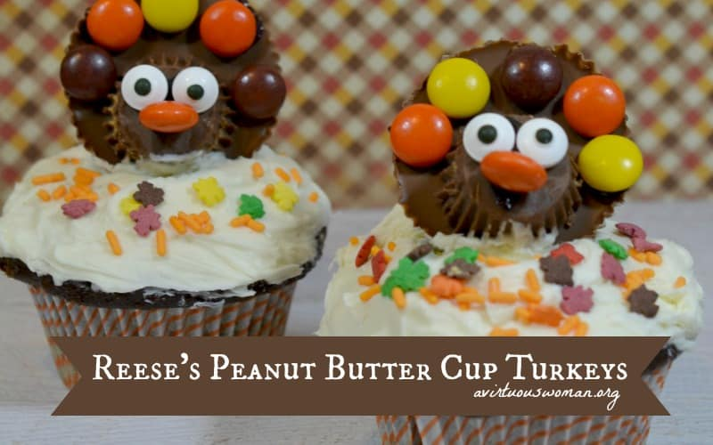 Reese's Peanut Butter Cup Turkeys