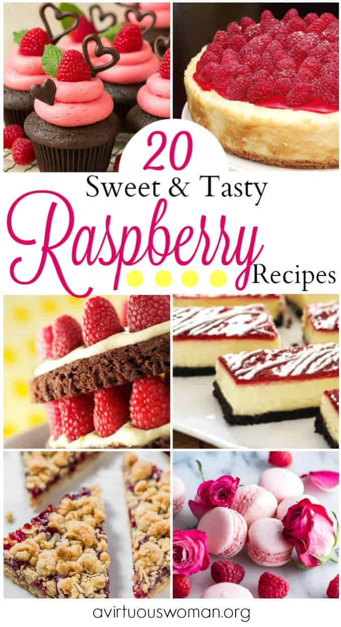 20 Sweet and Tasty Raspberry Recipes @ AVirtuousWoman.org