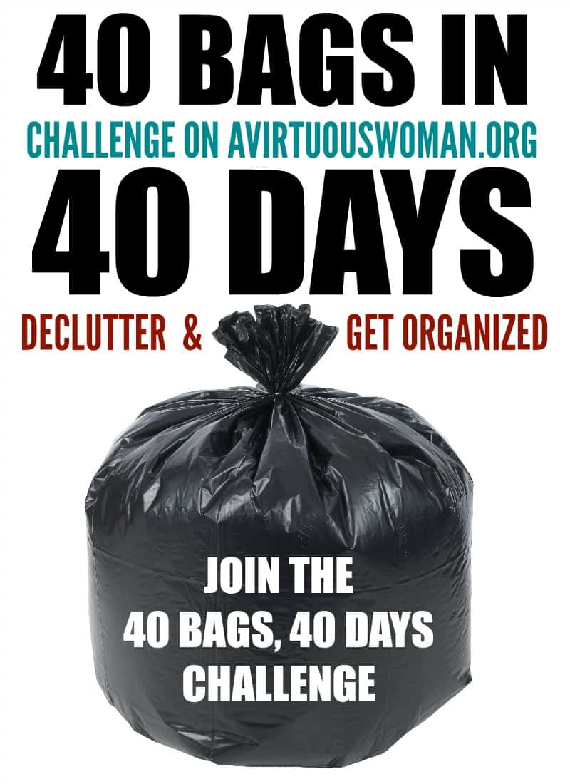 40 Bags in 40 Days Challenge @ AVirtuousWoman.org