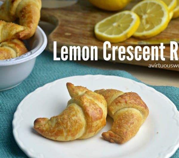 Lemon Crescent Rolls Dessert