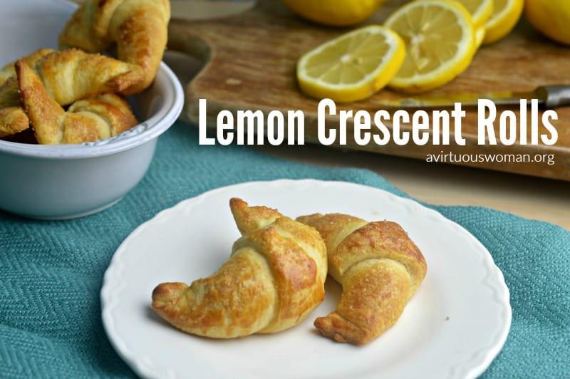 Lemon Crescent Rolls Dessert @ AVirtuousWoman.org