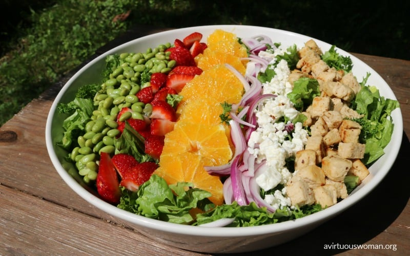 Summer Fresh Salad @ AVirtuousWoman.org