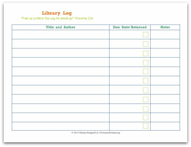 Printable Homeschool Lesson Planner